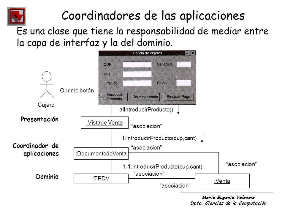 Coordinadores de las aplicaciones