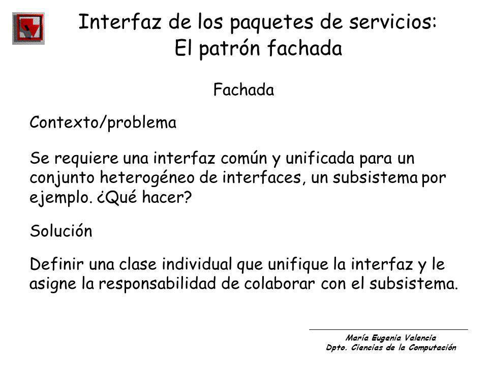 Interfaz de los paquetes de servicios:
