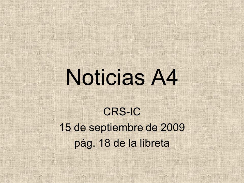 CRS-IC 15 de septiembre de 2009 pág. 18 de la libreta