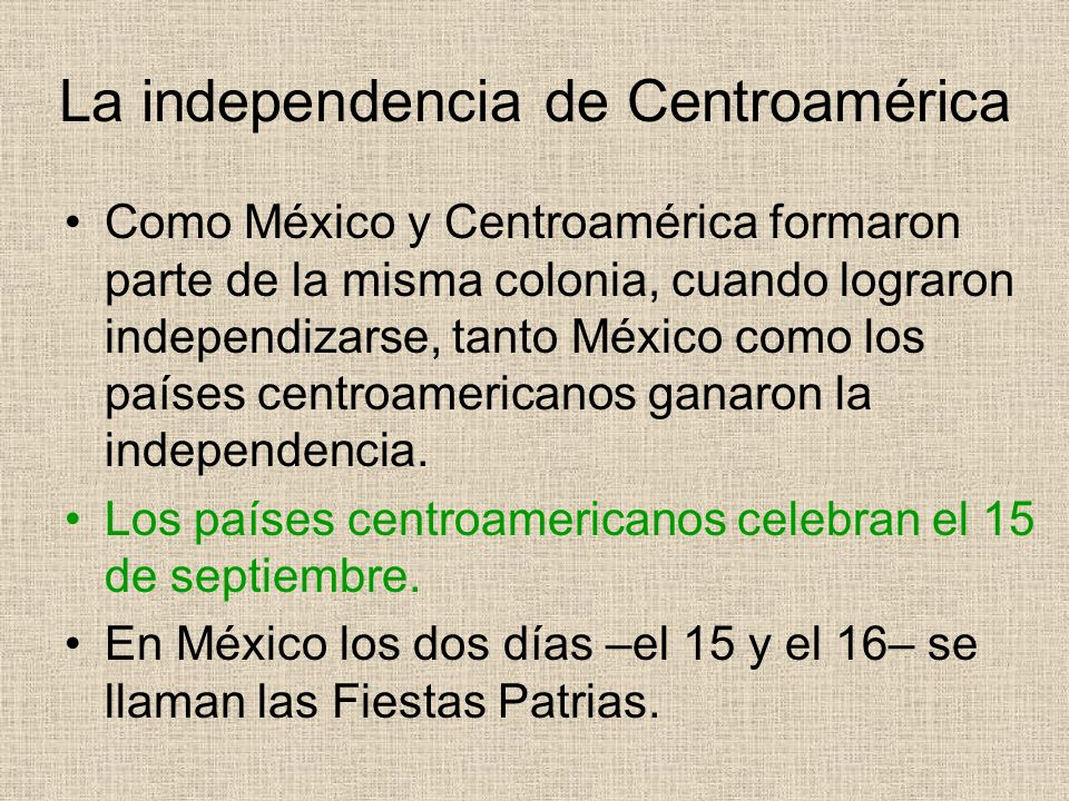La independencia de Centroamérica
