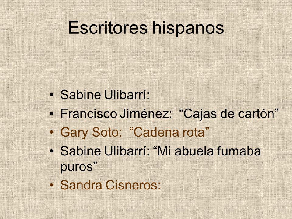 Escritores hispanos Sabine Ulibarrí: