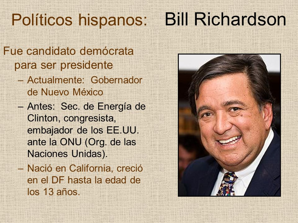 Políticos hispanos: Bill Richardson