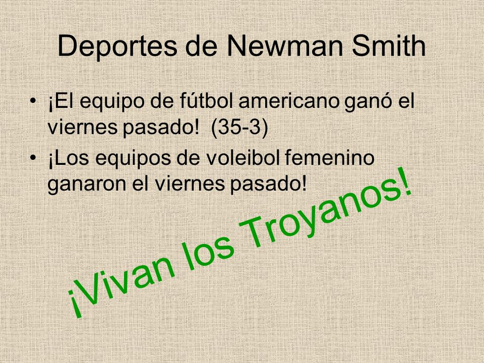 Deportes de Newman Smith