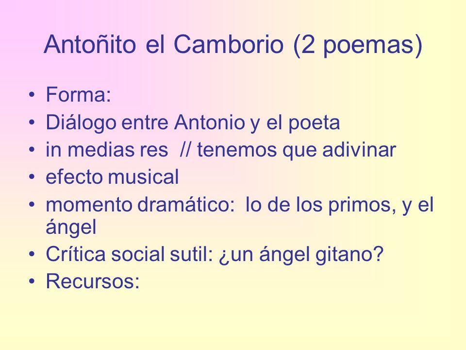 Antoñito el Camborio (2 poemas)