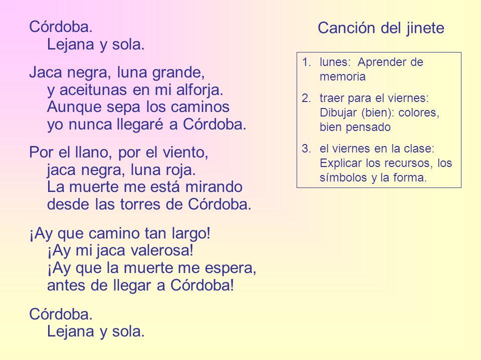 Córdoba. Lejana y sola. Canción del jinete