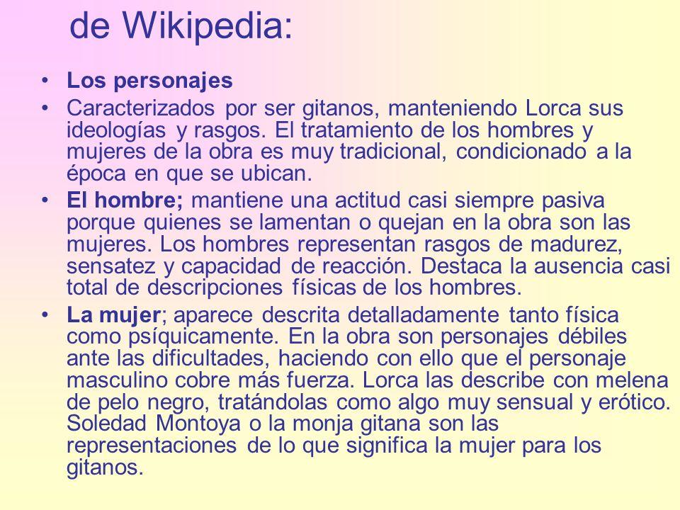 de Wikipedia: Los personajes