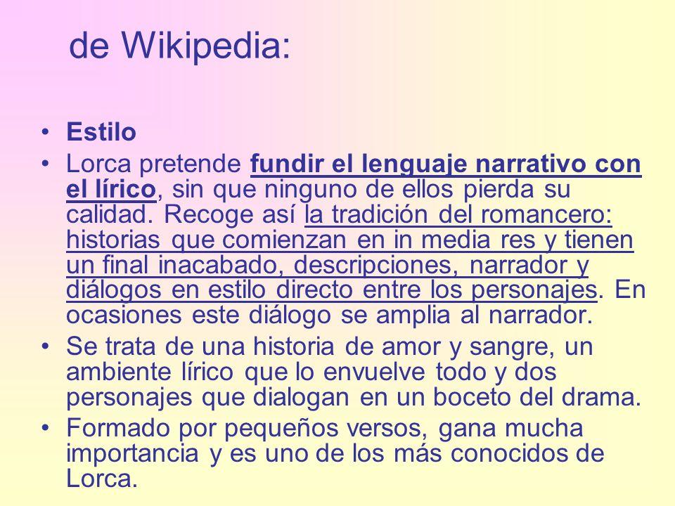 de Wikipedia: Estilo.