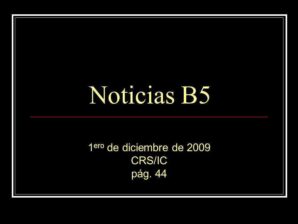 1ero de diciembre de 2009 CRS/IC pág. 44