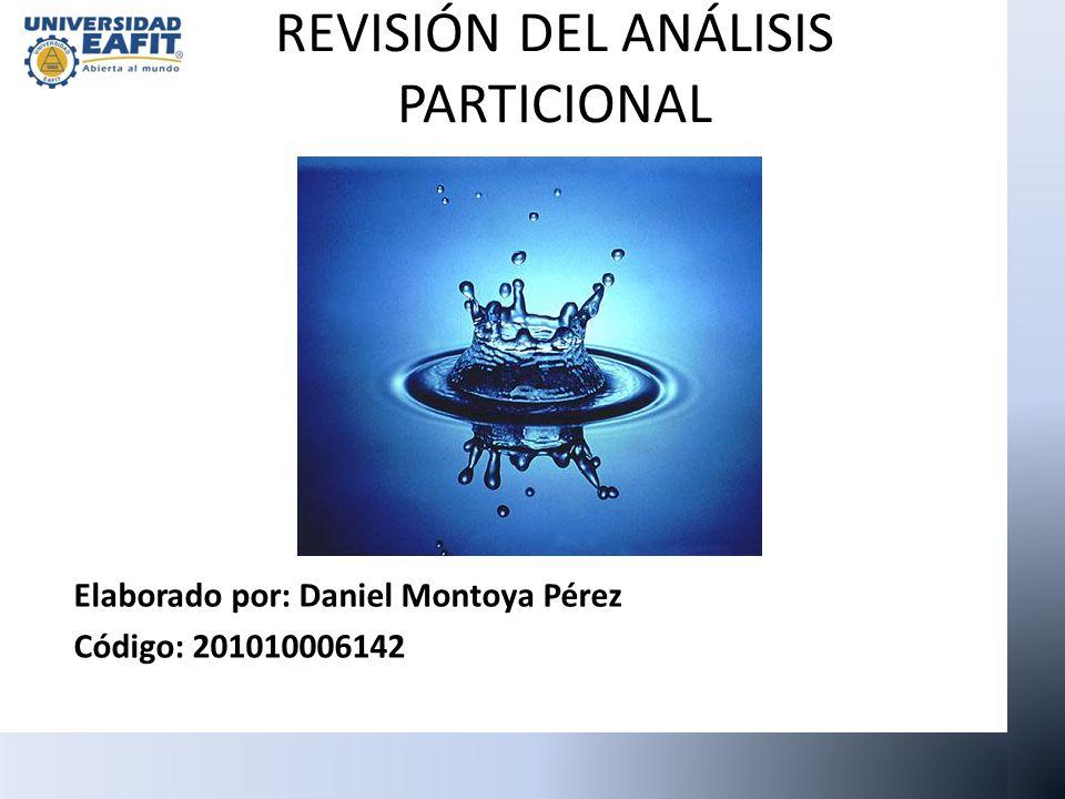 REVISIÓN DEL ANÁLISIS PARTICIONAL