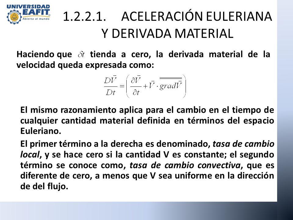 1.2.2.1. ACELERACIÓN EULERIANA Y DERIVADA MATERIAL