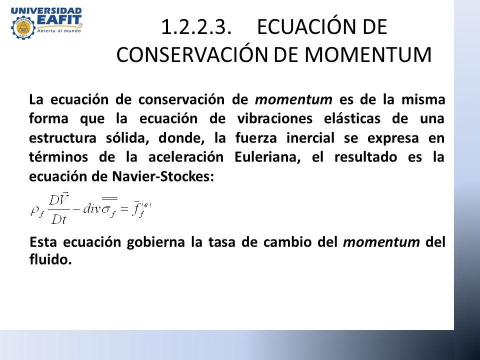 1.2.2.3. ECUACIÓN DE CONSERVACIÓN DE MOMENTUM