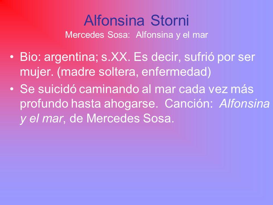 Alfonsina Storni Mercedes Sosa: Alfonsina y el mar