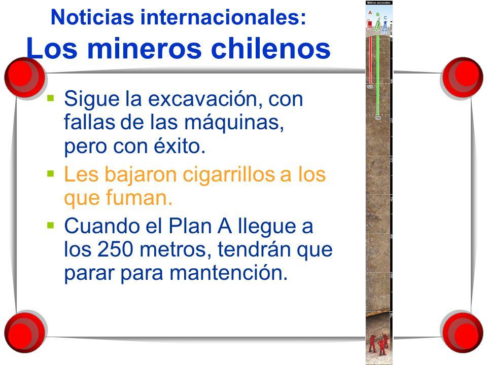 Noticias internacionales: Los mineros chilenos