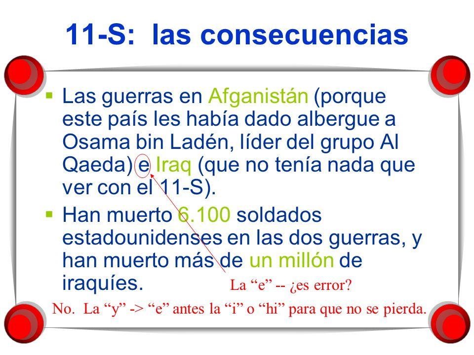 11-S: las consecuencias