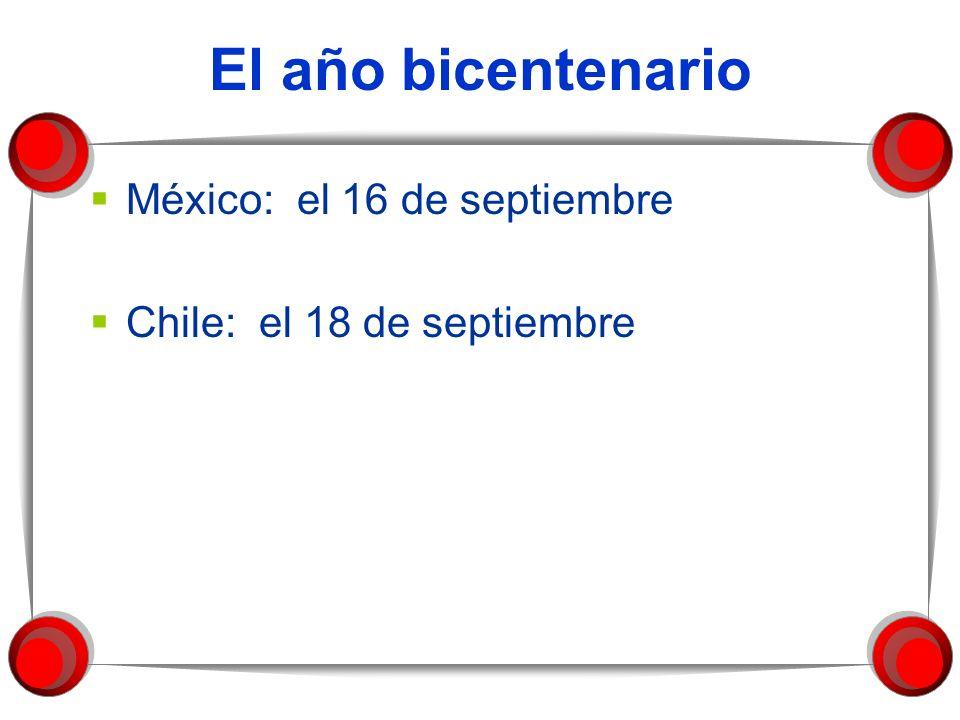 El año bicentenario México: el 16 de septiembre
