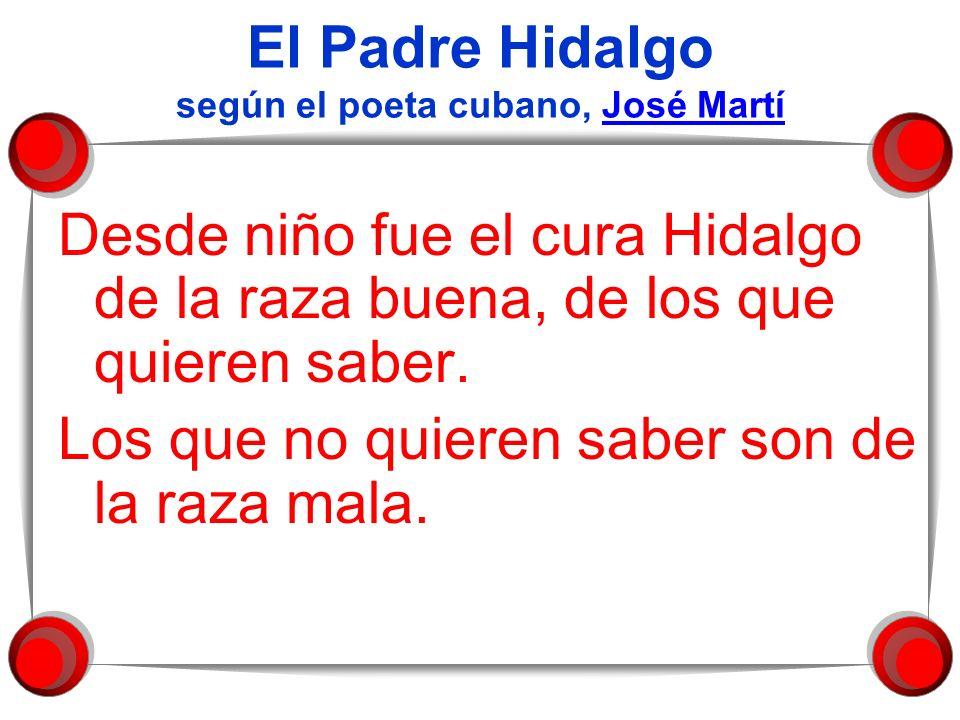 El Padre Hidalgo según el poeta cubano, José Martí