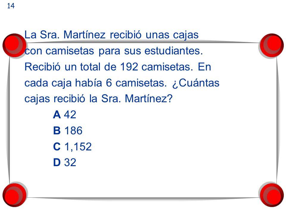 La Sra. Martínez recibió unas cajas