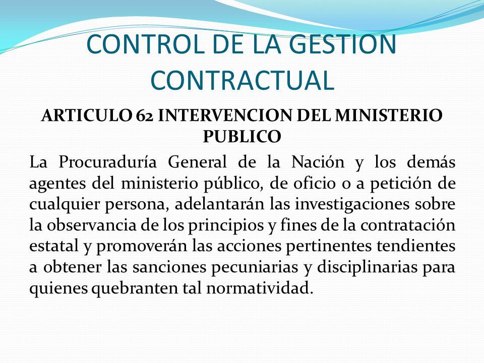CONTROL DE LA GESTION CONTRACTUAL