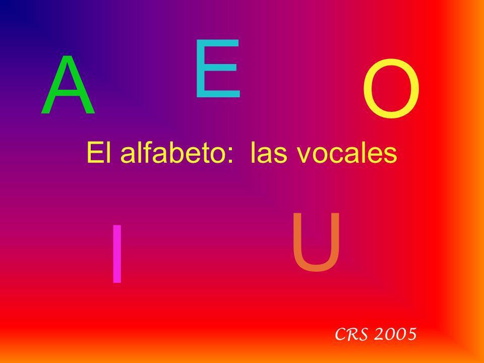 El alfabeto: las vocales