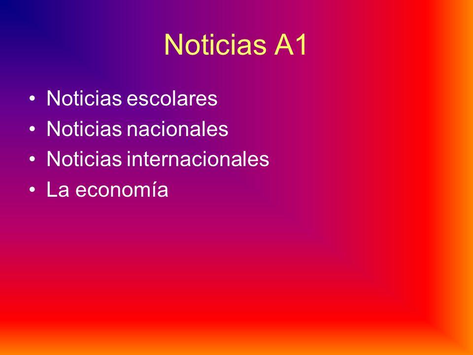 Noticias A1 Noticias escolares Noticias nacionales