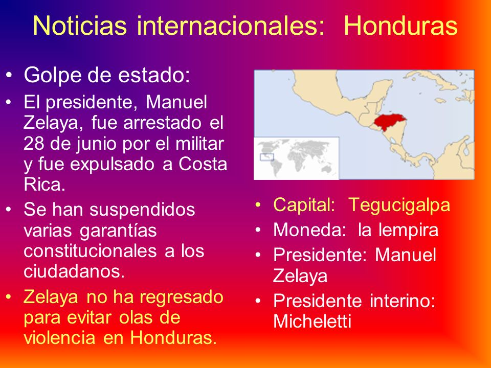 Noticias internacionales: Honduras