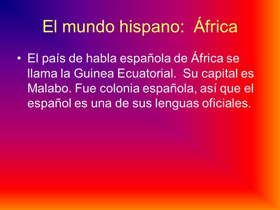 El mundo hispano: África
