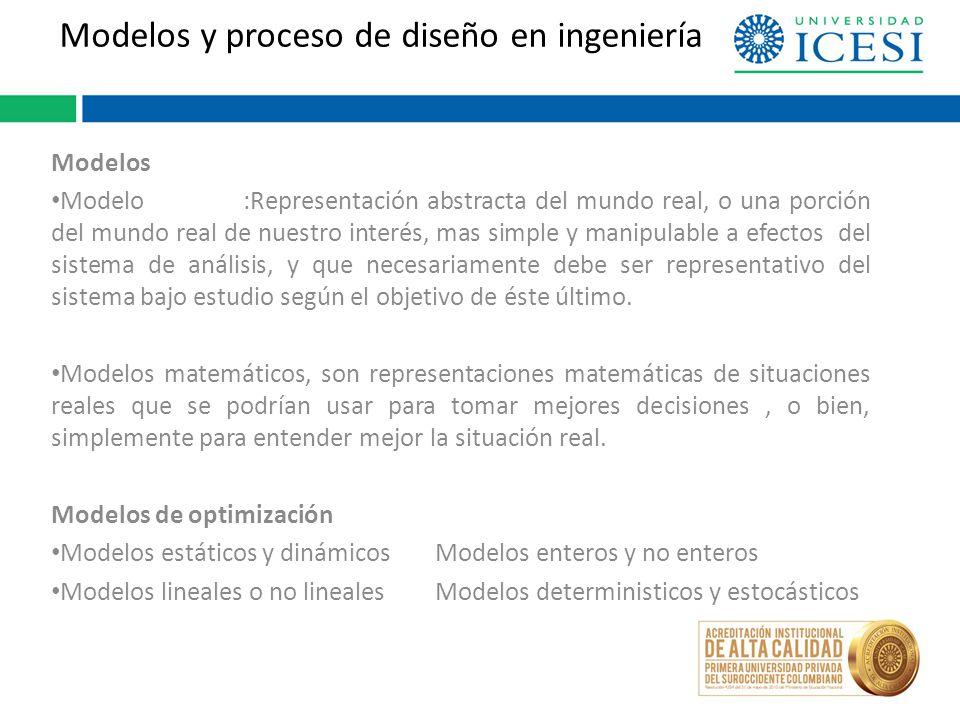 Modelos y proceso de diseño en ingeniería