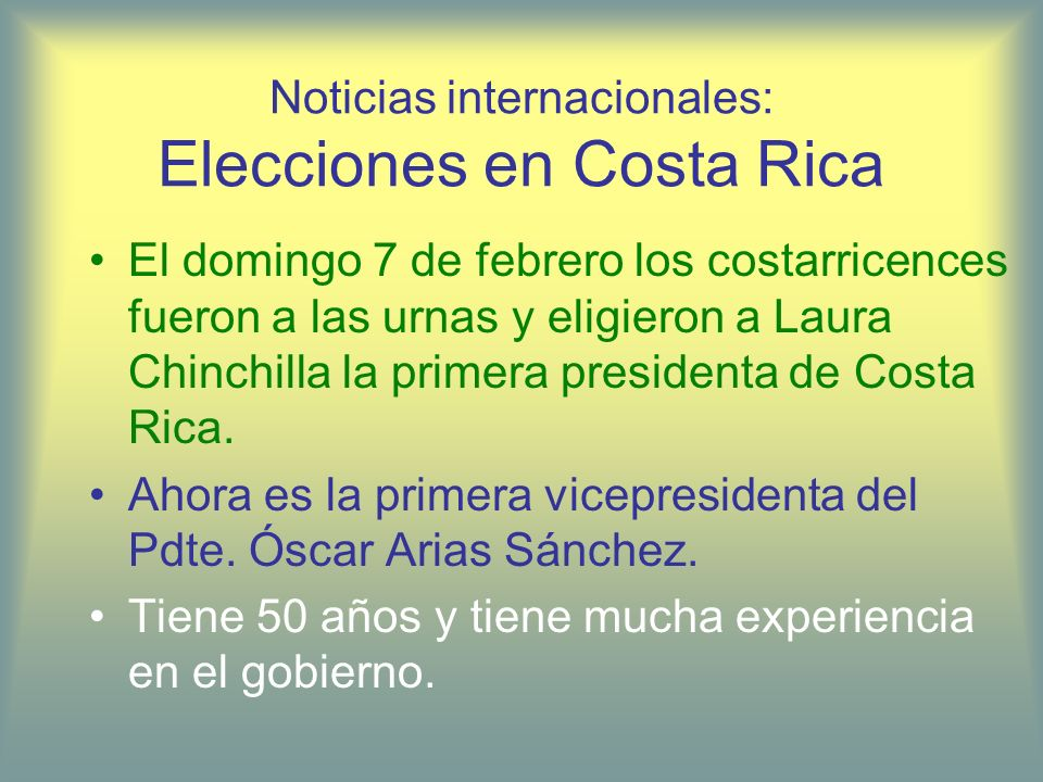 Noticias internacionales: Elecciones en Costa Rica