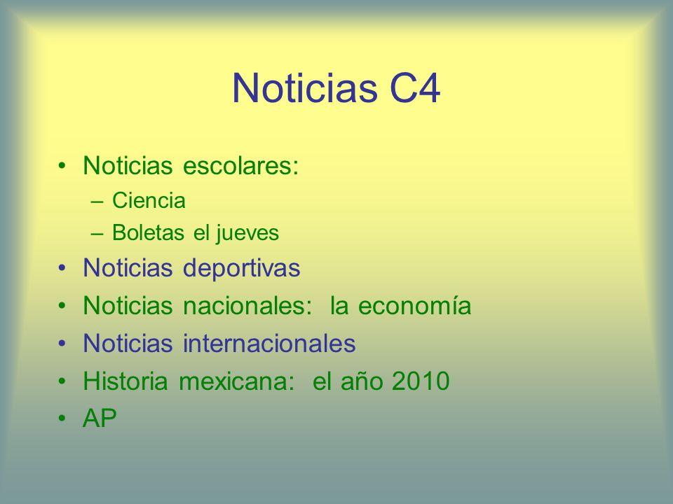 Noticias C4 Noticias escolares: Noticias deportivas