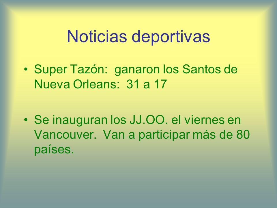 Noticias deportivasSuper Tazón: ganaron los Santos de Nueva Orleans: 31 a 17.