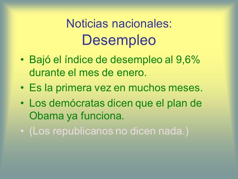 Noticias nacionales: Desempleo