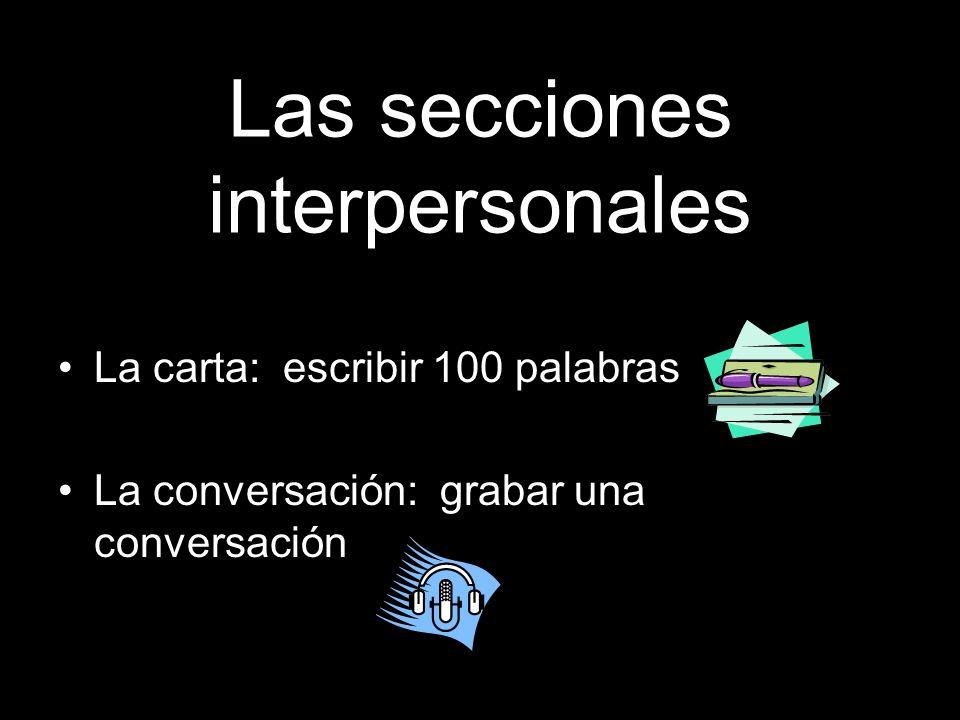 Las secciones interpersonales