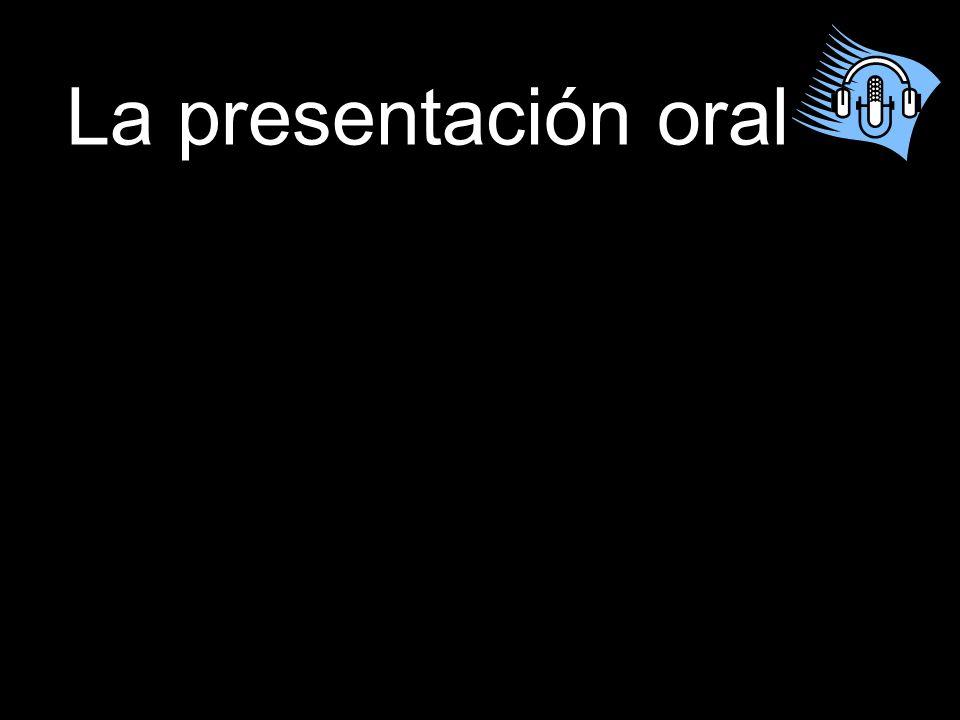 La presentación oral
