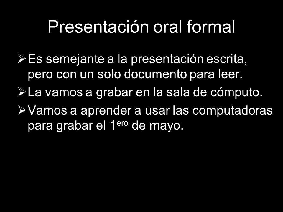 Presentación oral formal