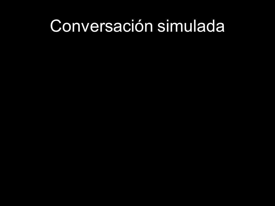 Conversación simulada