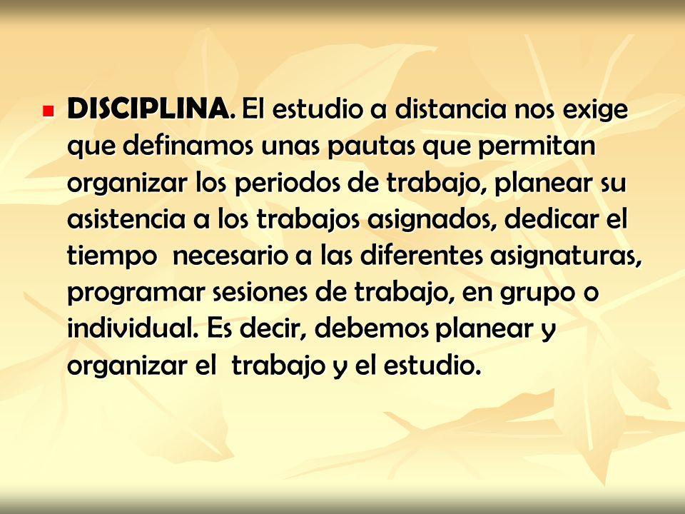 DISCIPLINA.