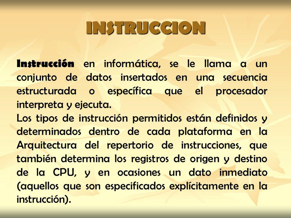 INSTRUCCION