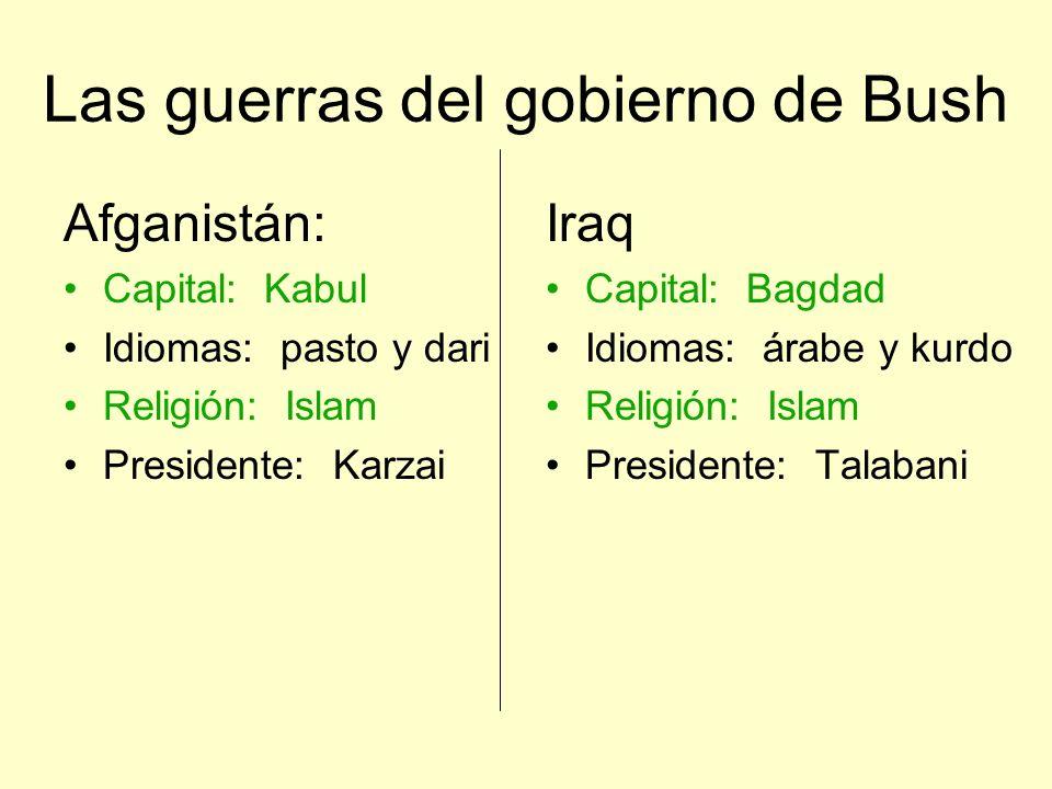 Las guerras del gobierno de Bush