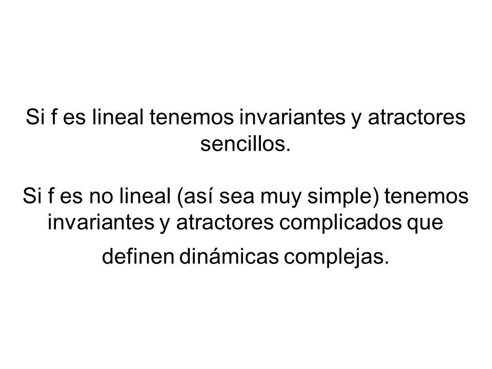Si f es lineal tenemos invariantes y atractores sencillos