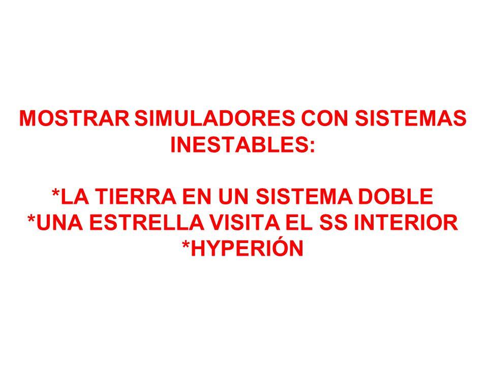 MOSTRAR SIMULADORES CON SISTEMAS INESTABLES: