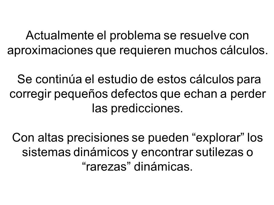 Actualmente el problema se resuelve con aproximaciones que requieren muchos cálculos.