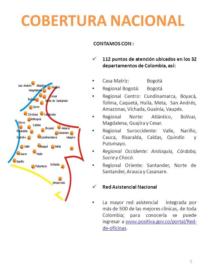 COBERTURA NACIONAL CONTAMOS CON :