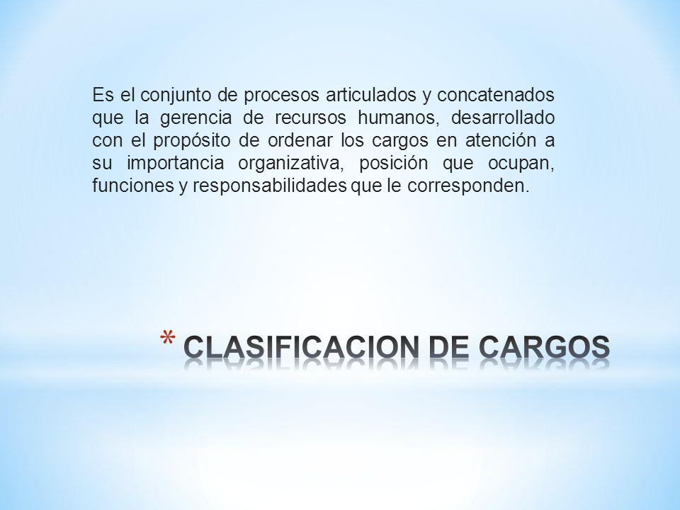 CLASIFICACION DE CARGOS