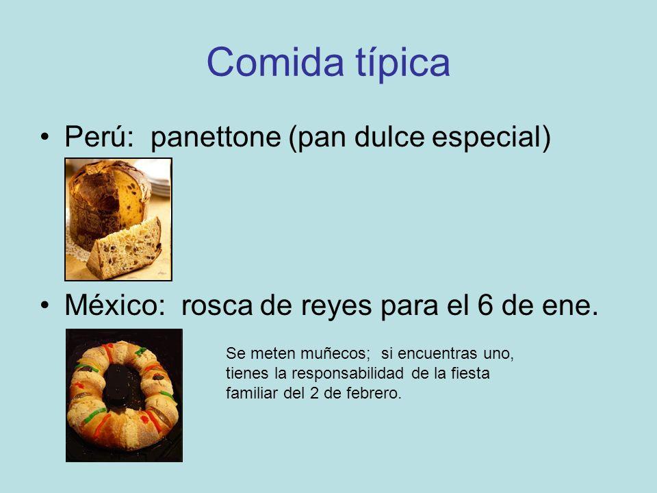 Comida típica Perú: panettone (pan dulce especial)