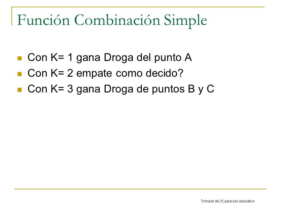 Función Combinación Simple