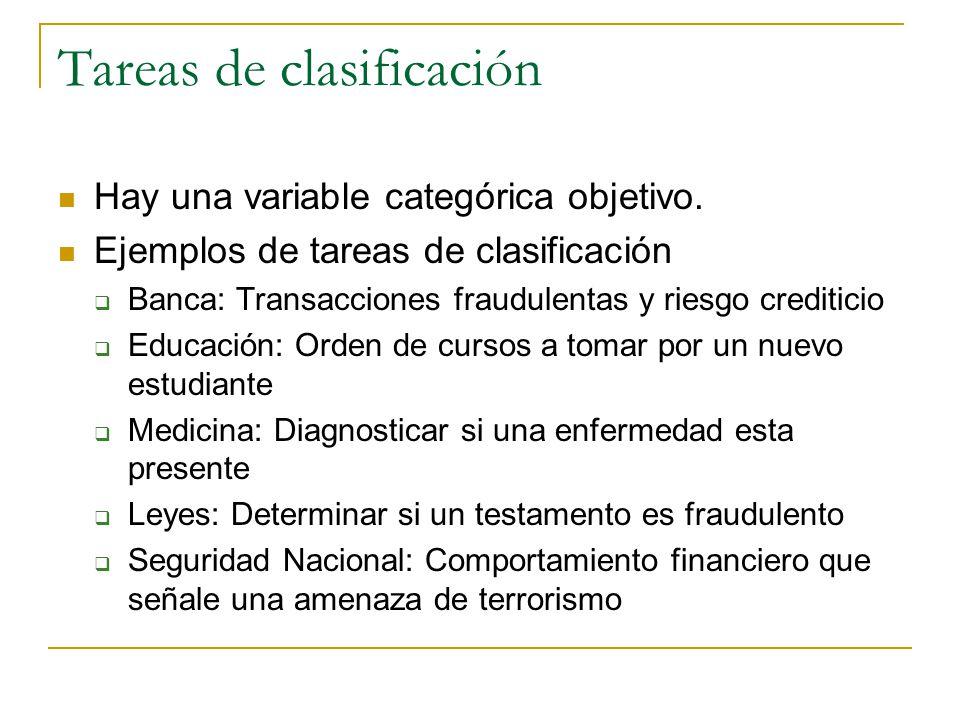 Tareas de clasificación