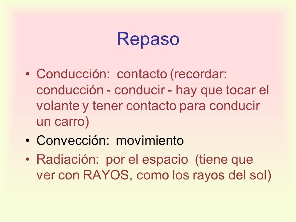 RepasoConducción: contacto (recordar: conducción - conducir - hay que tocar el volante y tener contacto para conducir un carro)