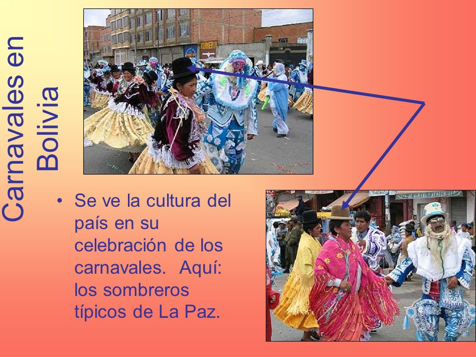 Carnavales en Bolivia Se ve la cultura del país en su celebración de los carnavales.