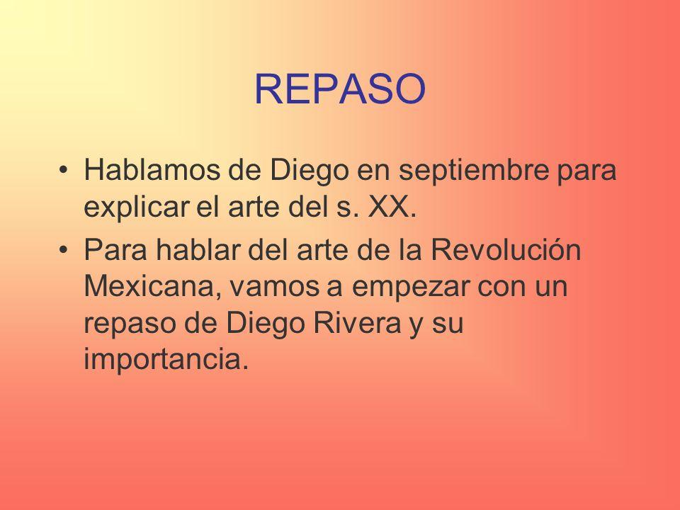 REPASO Hablamos de Diego en septiembre para explicar el arte del s. XX.