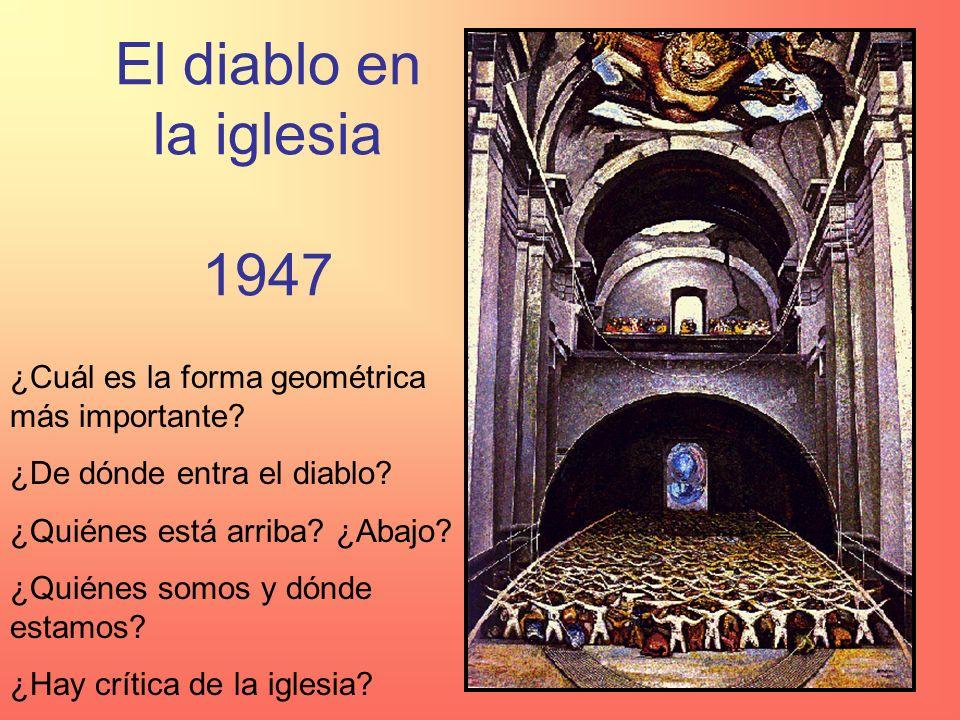El diablo en la iglesia 1947 ¿Cuál es la forma geométrica más importante ¿De dónde entra el diablo